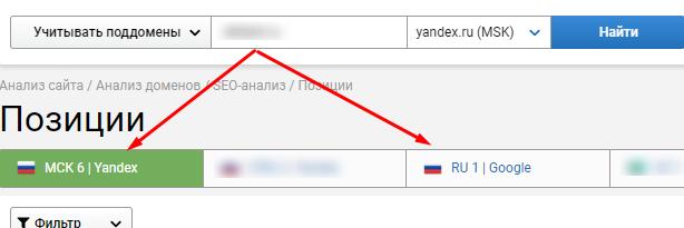 видимость site1.ru