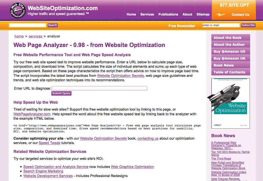 webpage analyzer