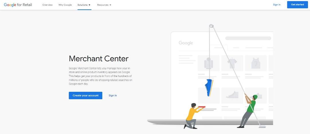 настройка товарных объявлений Google