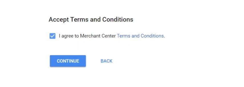 принимаете пользовательские условия в google shopping