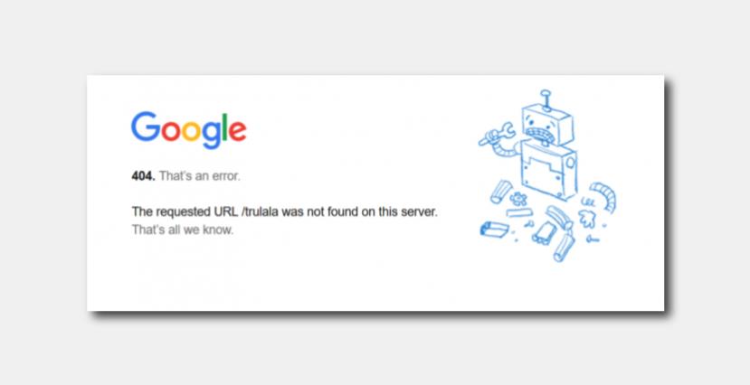 создать оригинальную страницу 404 ошибки