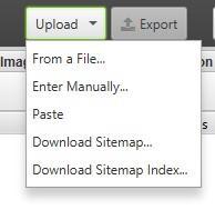 использовать функцию вставки (paste) или загрузить (upload) csv