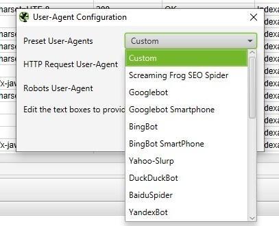 как сканировать, используя другой пользовательский агент (user-agent)