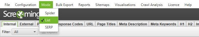 создание xml-файла sitemap путем загрузки url-адресов