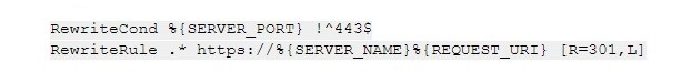 настройка редиректа 301 для перенаправления с HTTP на HTTPS