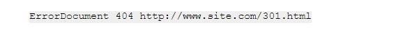 редирект с 404 Not Found - код
