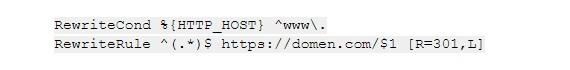 вставьте в .htaccess код