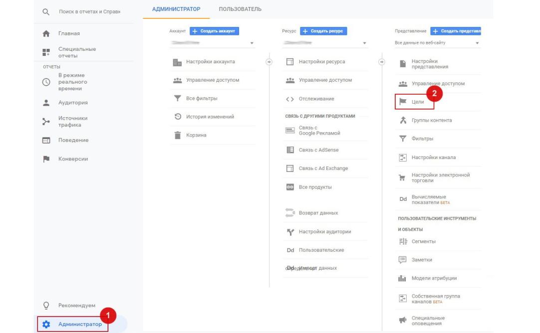 Пошаговая инструкция настройки целей Google Analytics