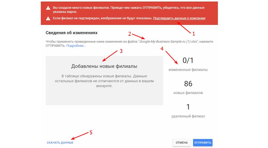 добавляем филиалы в гугл бизнес