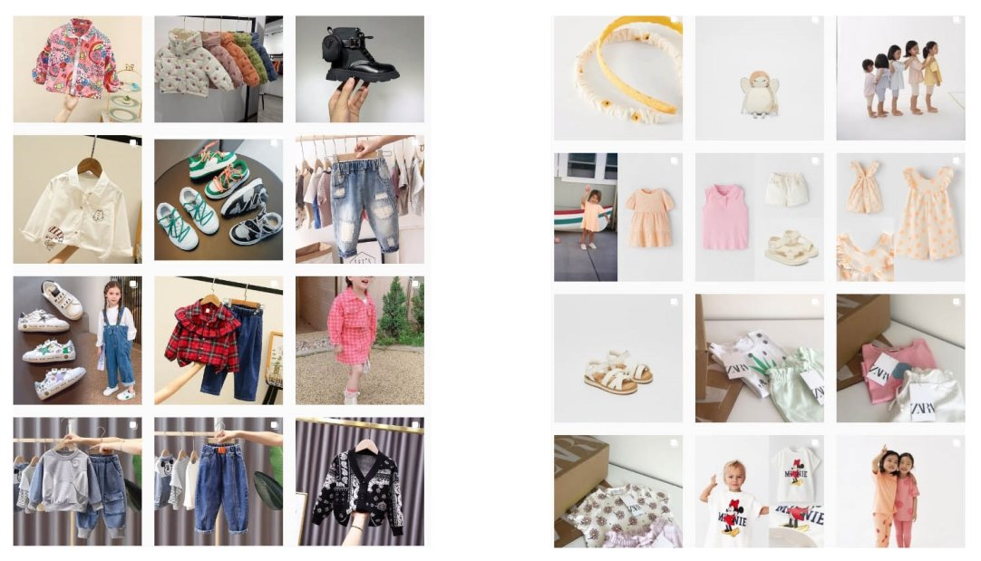 Аккаунты детской одежды