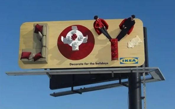 Наружная реклама мебельной компании